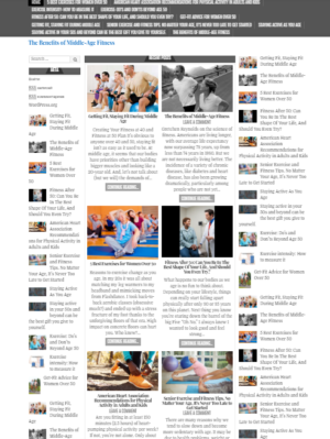 Физ.культура после 50 лет. Сайт на английском языке. CMS Вордпресс. №1
