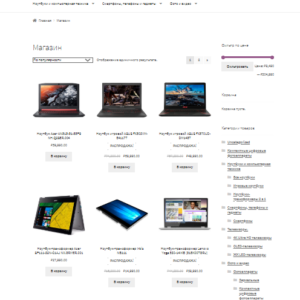Интернет магазин электроники. CMS Вордпресс. №3