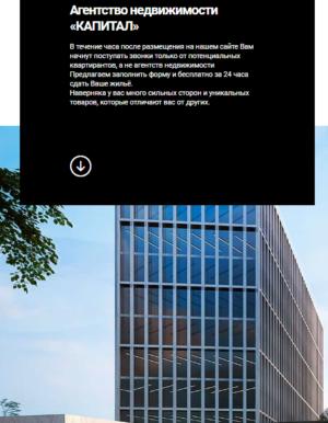 Агентство недвижимости Сайт-визитка. CMS Вордпресс. №1.