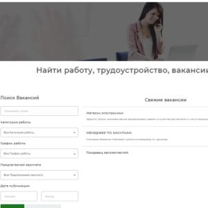 Доска объявлений, поиск работы, вакансии. на русском языке. CMS Вордпресс. №502