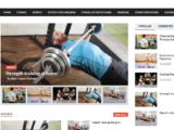 Cпорт фитнес, многостраничный сайт на английском языке №510.