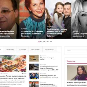 Новости России и мира, автонаполняемый сайт на WordPress. №528
