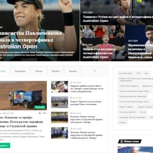 Спортивные новости, автонаполняемый сайт СМИ, на WordPress, №531
