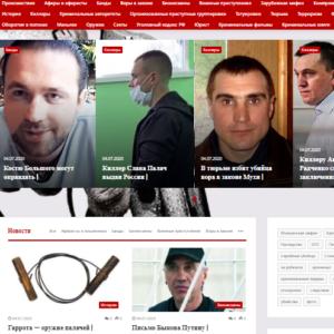 Новости и история криминального мира автонаполняемый сайт на вордпресс №563